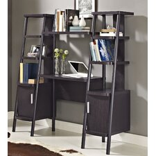 Ladder Bookcase Towers with Desk