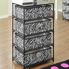 4 Bin Storage End Table