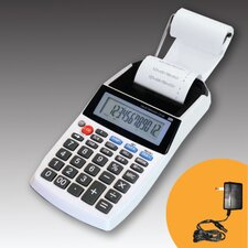 12 Digit LCD AC/DC Printer Calculator