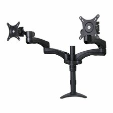 Dusky Emperor Dual Arm TV / Monitor Desk Mount Grommet / Clamp Stand