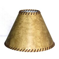 "17"" Faux Leather Bell Lamp Shade"