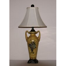 "Floral Medallion 29"" H Table Lamp with Bell Shade"