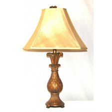 """30"""" H Table Lamp with Double Lined Lamp Shade"""