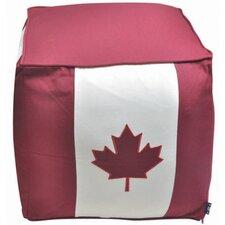 Canadian Flag Patriotic Pouffe