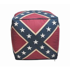 Confederate Flag Pouffe