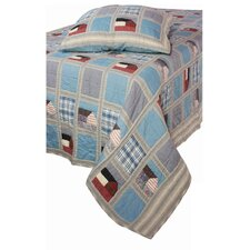 """Reminds Me of Cape Cod"" Denim Quilt"