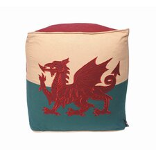 Wales Flag Patriotic Duck Pouffe