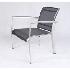 <strong>Les Jardins</strong> Out of Blue Elysun Low Lounge Armchair in Silver with Grey Sling