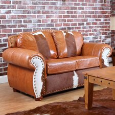 <strong>Verona Furniture</strong> Rawhide Leather Loveseat