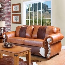 <strong>Verona Furniture</strong> Rawhide Grain Leather Sofa