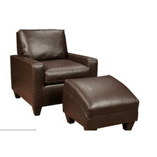 <strong>Verona Furniture</strong> Martin Chair and Ottoman
