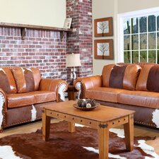 <strong>Verona Furniture</strong> Rawhide Leather Living Room Collection