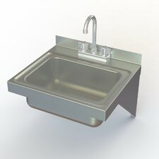 "NSF 17"" x 15"" Wall Mounted Hand Sink with Faucet"