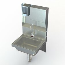 "NSF 17"" x 15"" Industrial Hand Sink with Faucet"