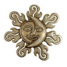 Sun and Moon Half Face Wall Plaque