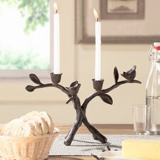 Twig Coll Double Taper Candlestick