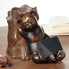 Sleepy Bear Cell Phone Holder with Bluetooth Speaker