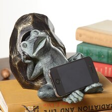 Napping Frog Cell Phone Holder with Bluetooth Speaker