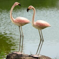 Flamboyant Flamingos Garden Pair