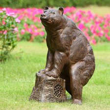 Sierra Bear Garden Statue with Bluetooth Speaker