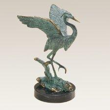 Single Heron Figurine