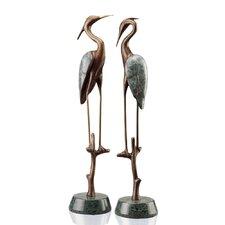 Wetlands Heron Pair Figurine