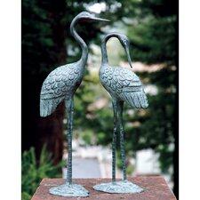 2 Piece Love Cranes Figurine Set