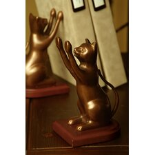 Curious Cat Bookends Pair