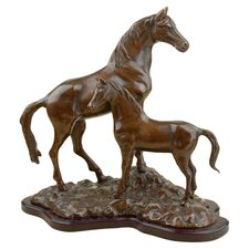 Horse with Colt Figurine