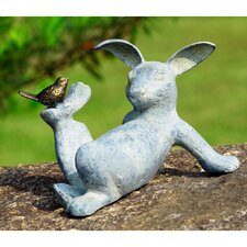 Playful Rabbit Garden Statue