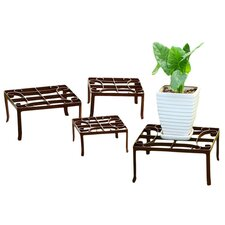Square Nested Plant Stands 4 Piece Set