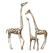 3 Piece Giraffe Family Figurine Set