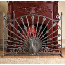 <strong>SPI Home</strong> Peacock Aluminum Fireplace Screen