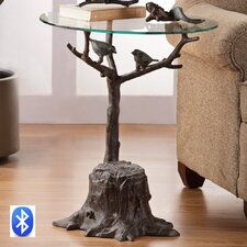 <strong>SPI Home</strong> Birds and Branch End Table with Bluetooth Speakers
