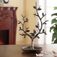 Nest Bird and Twig Tree Jewelry Stand