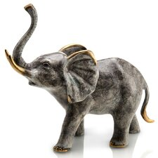 Bellowing Elephant Figurine