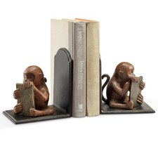 <strong>SPI Home</strong> Monkey with Tablet Book Ends (Set of 2)