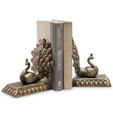 Peacock Book Ends (Set of 2)