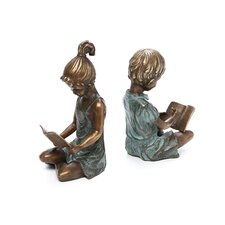 Boy and Girl Book Ends Pair