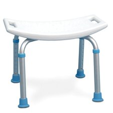 <strong>Aquasense</strong> Adjustable Bath and Shower Chair with Non-Slip Seat in White