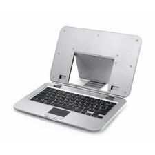 Sleek Stand with Keyboard for Laptops and Notebooks in Silver