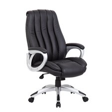 High-Back Executive Office Chair with Mesh Inserts