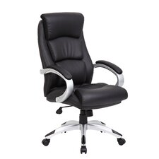 High-Back Executive Office Chair with Spring Tilt