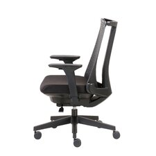 Contemporary Mid-Back Mesh Task Chair with Arms