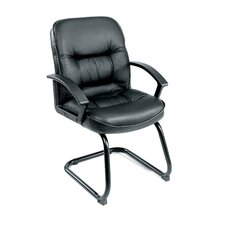 <strong>Boss Office Products</strong> Ergonomic Leather Guest Chair