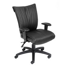<strong>Boss Office Products</strong> Mid-Back LeatherPlus Office Chair