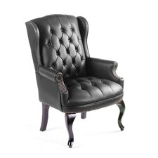 Guest Office Chair with Brass Head Trim