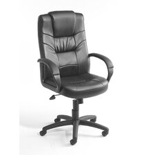 <strong>Boss Office Products</strong> Leather High-Back Executive Chair