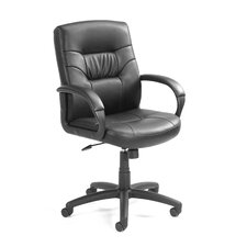 <strong>Boss Office Products</strong> Mid-Back Leather Executive Chair