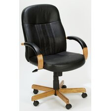 <strong>Boss Office Products</strong> High-Back Executive Chair with Hardwood Arms